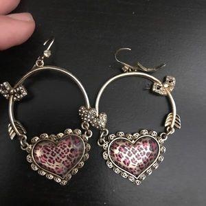 Heart hoops vintage Betsey earrings